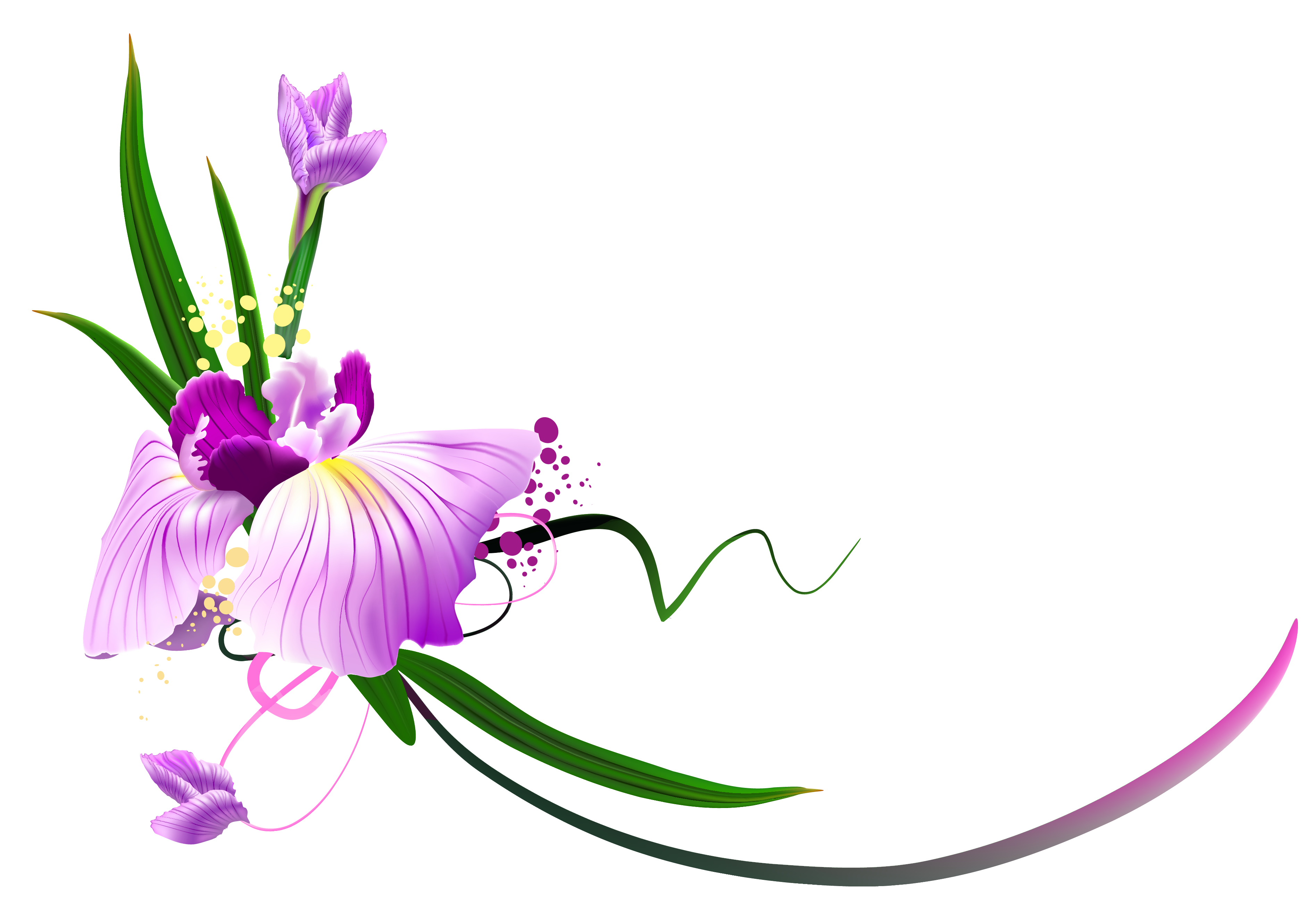 Flower arch clipart image royalty free Beautiful Purple Floral Decor PNG Clipart | Gallery Yopriceville ... image royalty free