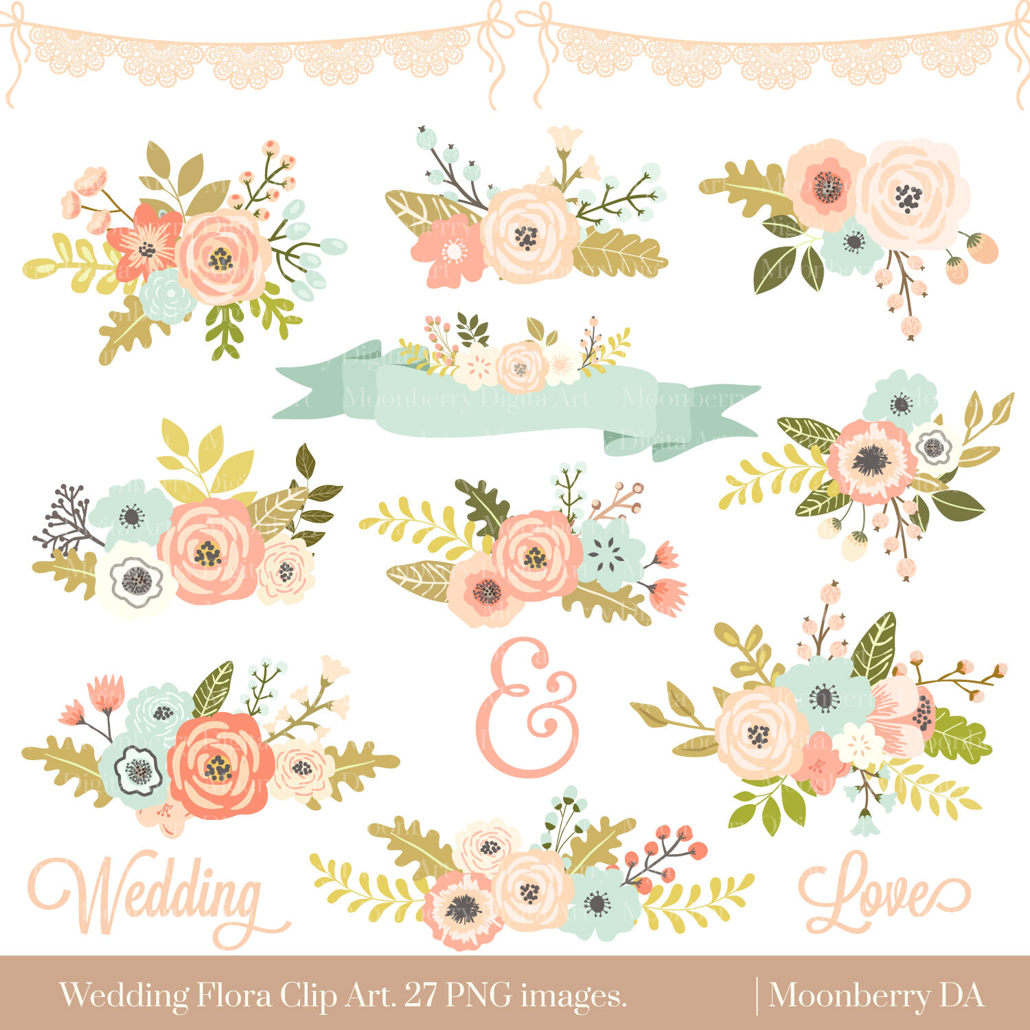 Floral images clipart svg free library Floral Clip Art & Floral Clip Art Clip Art Images - ClipartALL.com svg free library