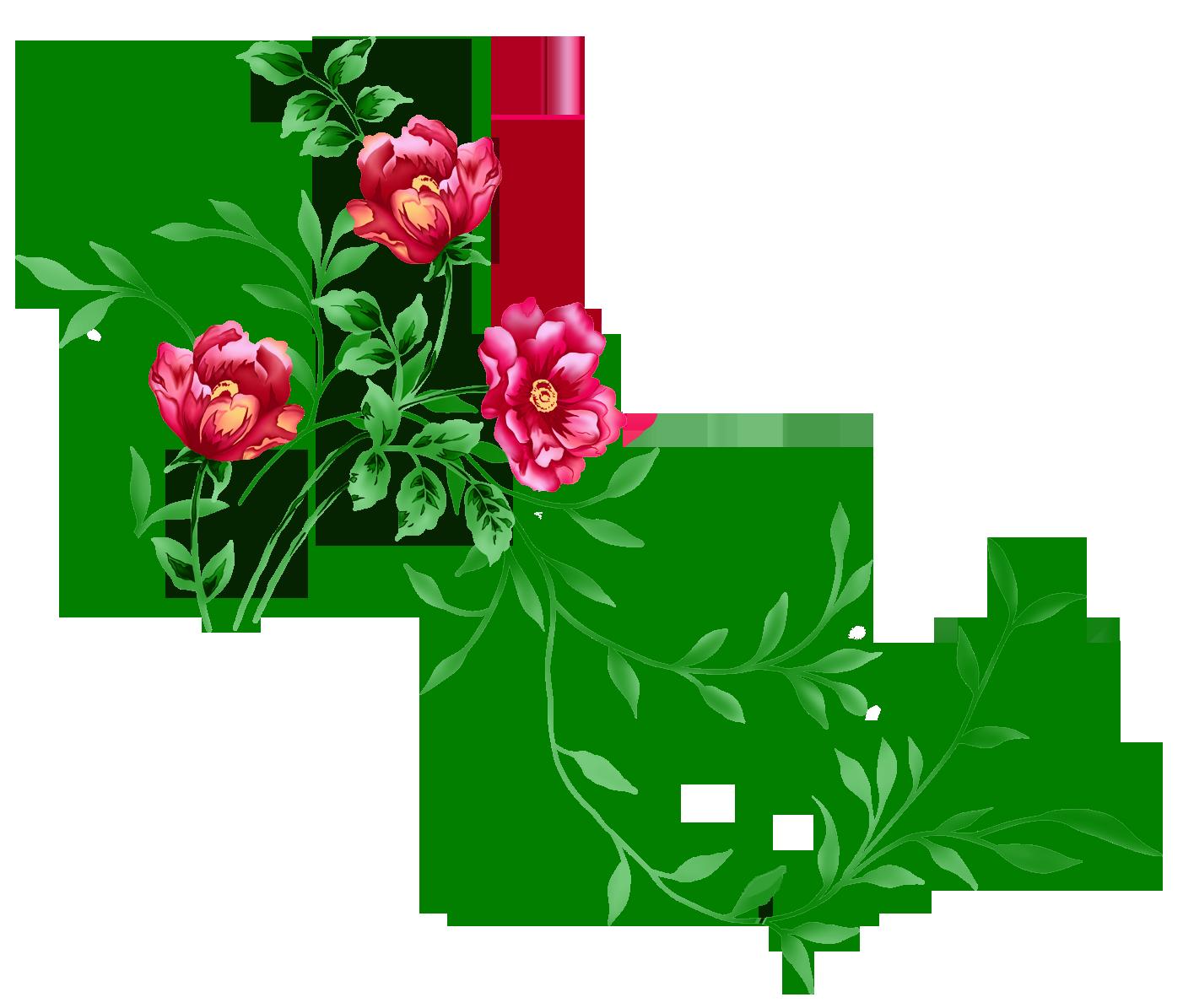 Floral images clipart picture transparent library Red Floral Decor PNG Transparent Clipart | Printables | Pinterest ... picture transparent library