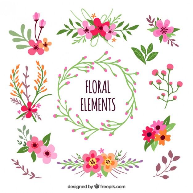 Floral images free jpg free stock Floral elements Vector | Free Download jpg free stock