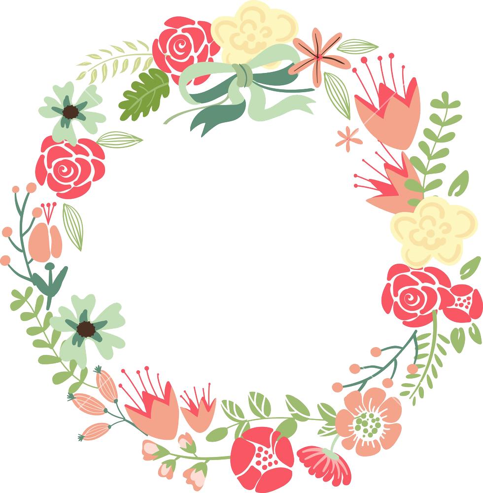 Flower wreath clipart png graphic black and white Floral Frame PNG Images Transparent Free Download | PNGMart.com graphic black and white