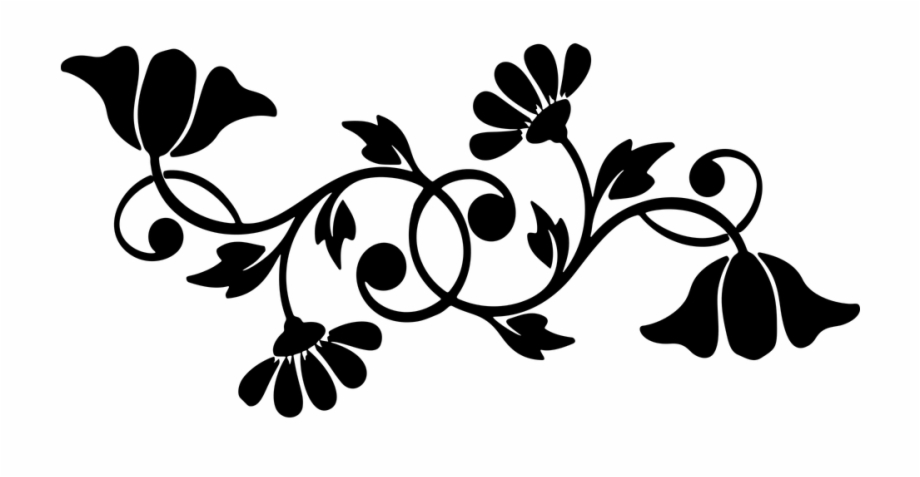Floral motif clipart free download Floral Flourish Flowers Motif Silhouette Abstract - Floral Motif ... free download