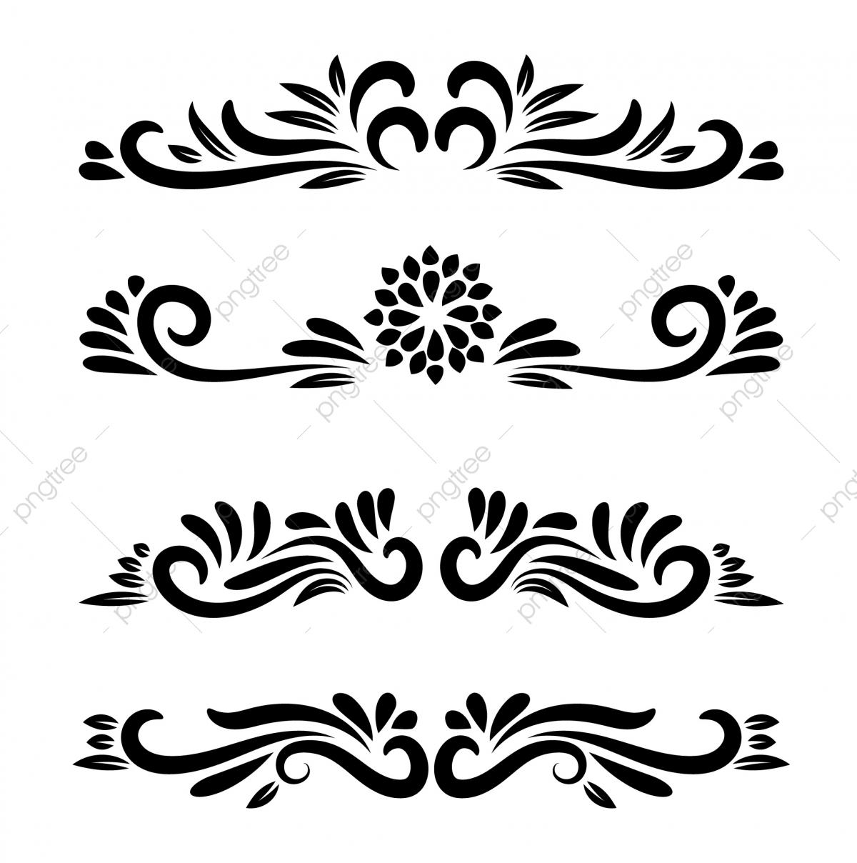 Vector element motifs ornamental. Floral motif clipart