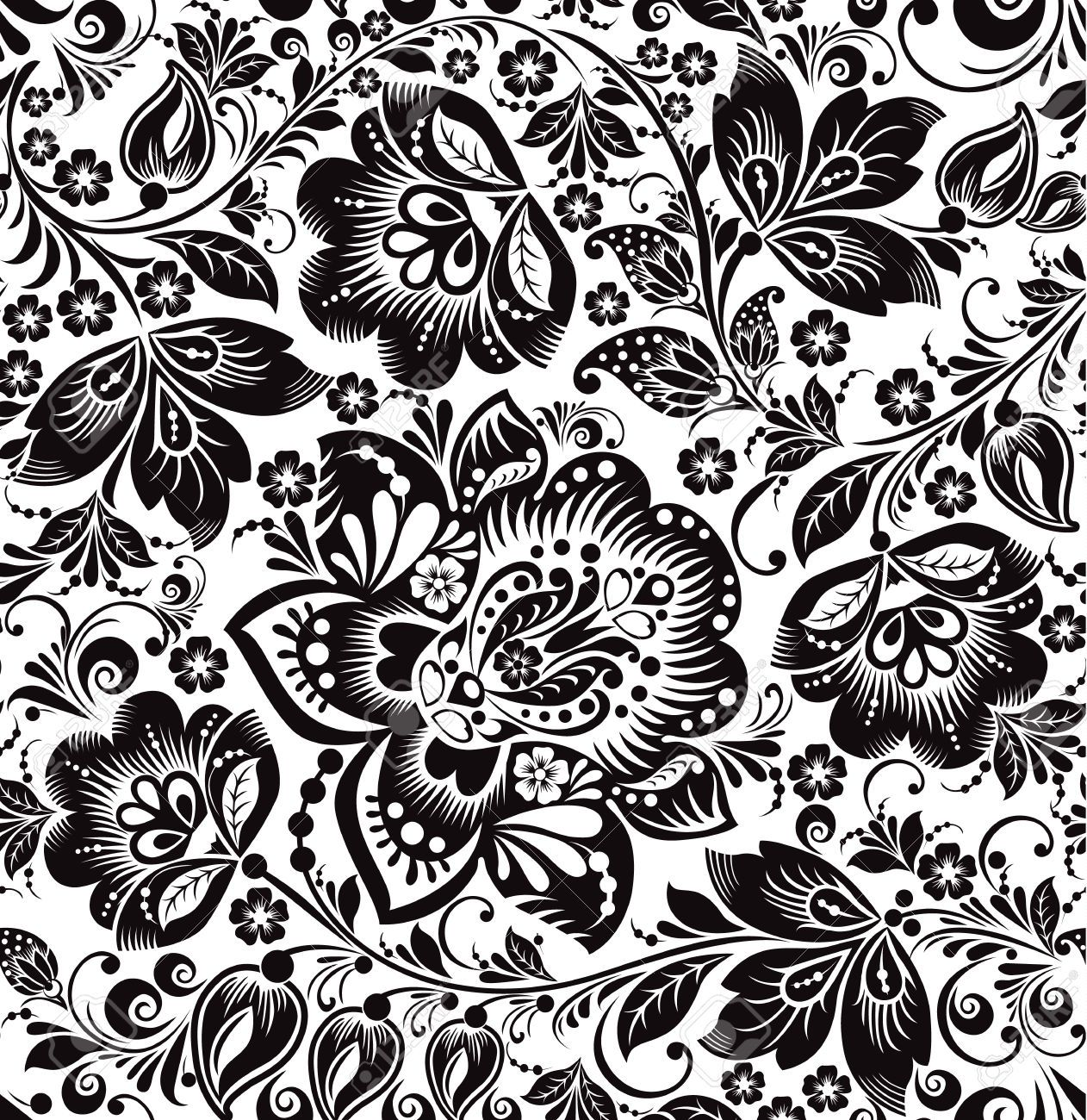 Stock u russia ethnic. Floral pattern vector clipart
