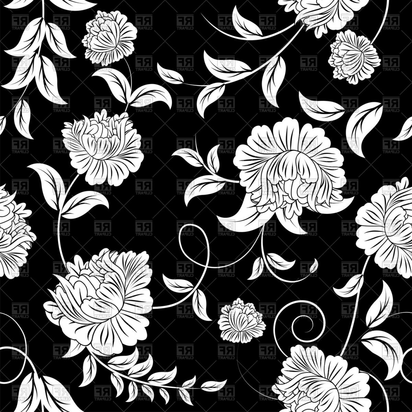 Library Of Floral Pattern Vector Jpg Freeuse Stock Png Files