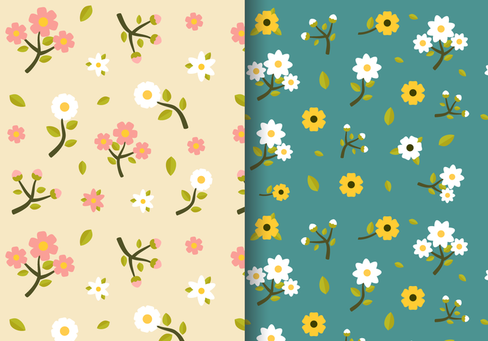 Free vintage spring download. Floral pattern vector clipart