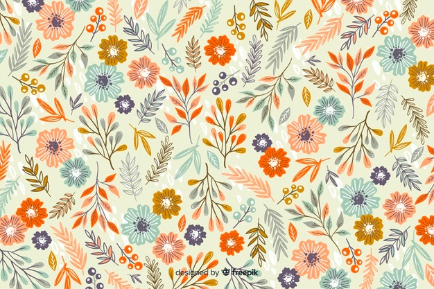 Floral pattern vector clipart. Vectors photos and psd