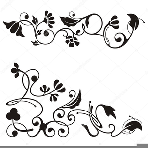 Free images at clker. Floral scroll clipart