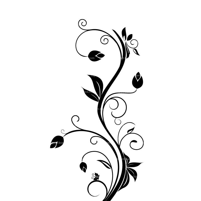 Floral scroll clipart. Flower portal