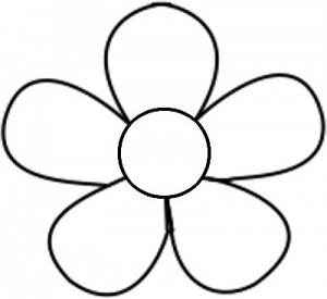 Free printable flower templates. Floral template clipart