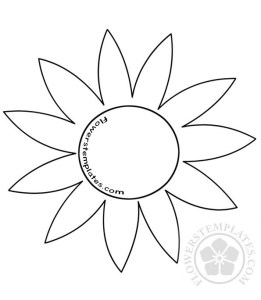 Flower pattern flowers templates. Floral template clipart