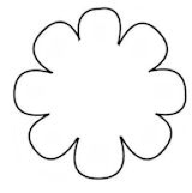 Free flower to colour. Floral template clipart