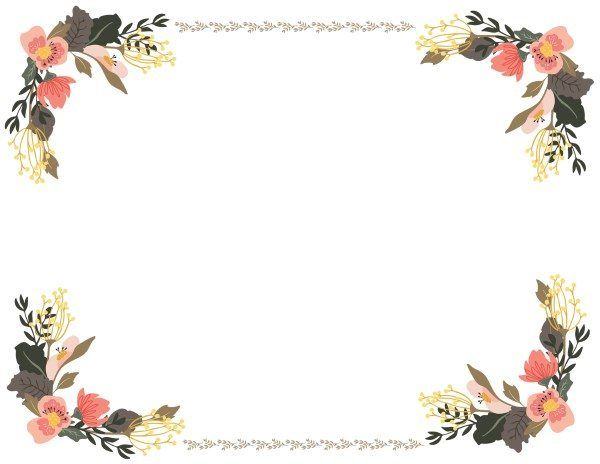 Floral templates clipart clipart royalty free download Flower Border Clipart | Speech Therapy | Flower border clipart ... clipart royalty free download
