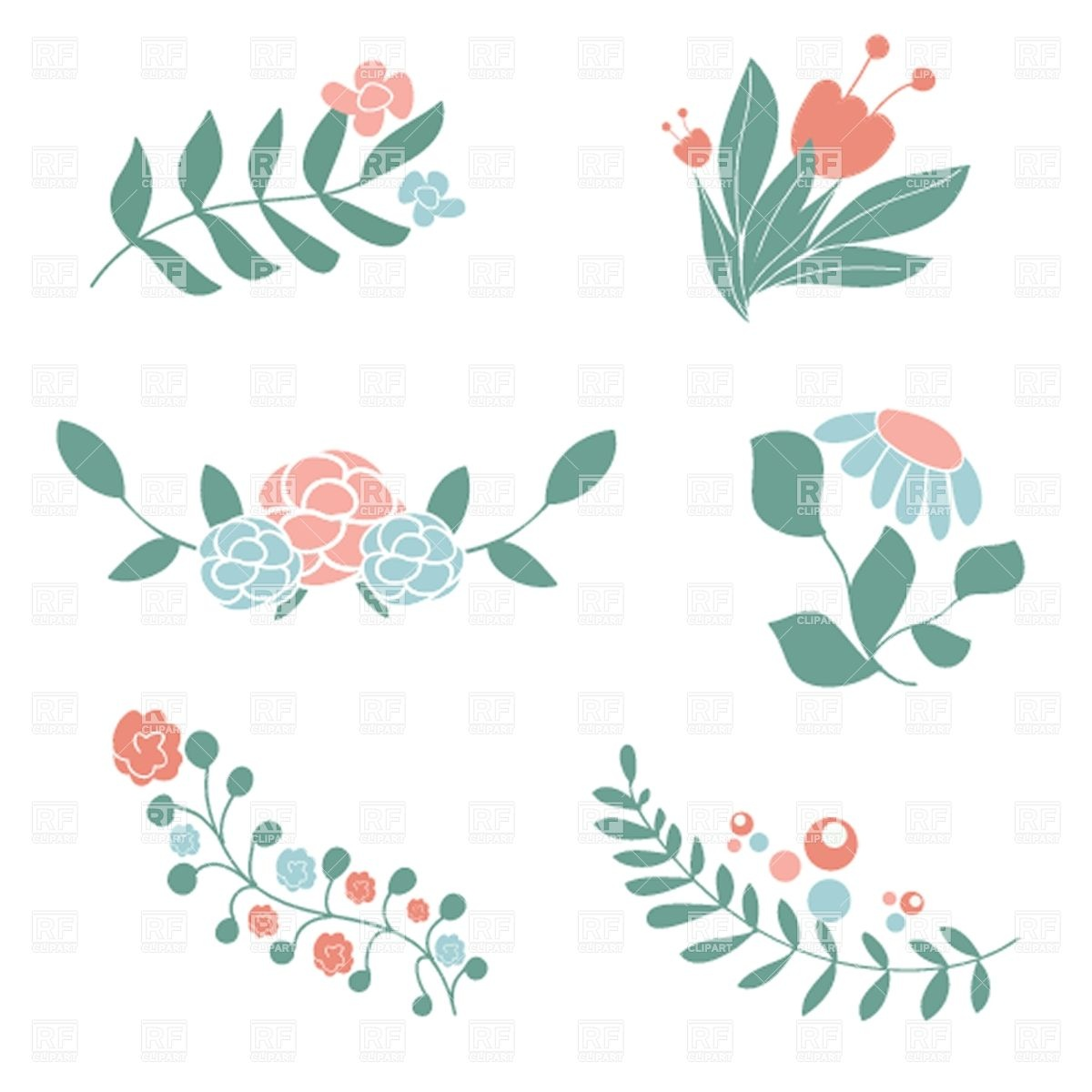 Floral vector clip art free download svg library library Floral vector clip art free download - ClipartFest svg library library