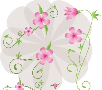 Floral vector clip art free download vector black and white library Free Floral Vector Art Free vector in Encapsulated PostScript eps ... vector black and white library