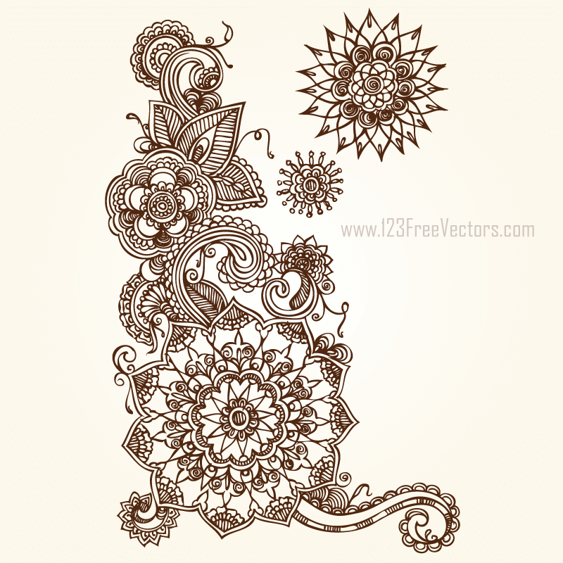 Floral vector clip art free download banner royalty free download Floral Vector Eps Free Download | 123Freevectors banner royalty free download