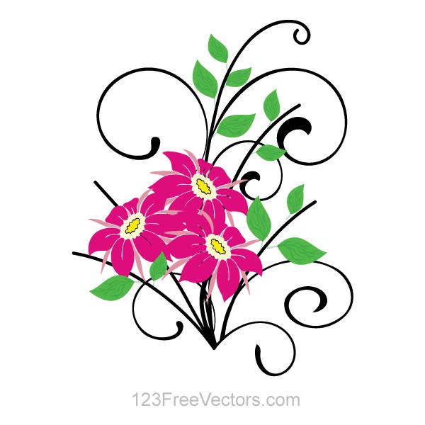 Floral vector clip art free download clip art free library Floral vector clip art free download - ClipartFest clip art free library