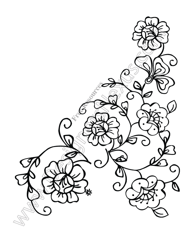 Floral vector corner clipart