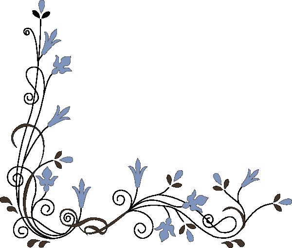 Floral vector corner clipart svg freeuse Simple Flower Corner Clipart - Clipart Kid | Birds And Trees ... svg freeuse