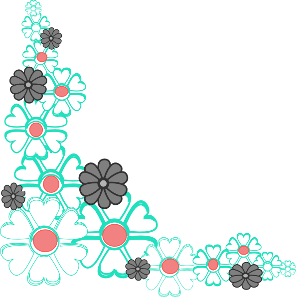 Floral vector corner clipart banner transparent download Free Flower Corner Cliparts, Download Free Clip Art, Free Clip Art ... banner transparent download