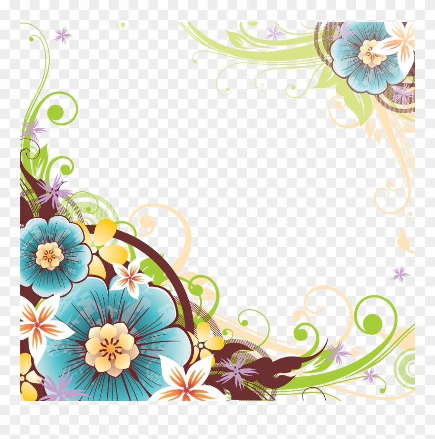 Floral vector corner clipart picture library download Цветы И Чернильница - Flower Vector Corner Png Clipart (#1546892 ... picture library download