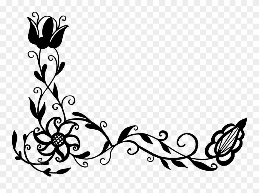 Floral vector corner clipart clipart stock Flower Floral Clip Art - Vector Corner Png Transparent Png (#924482 ... clipart stock