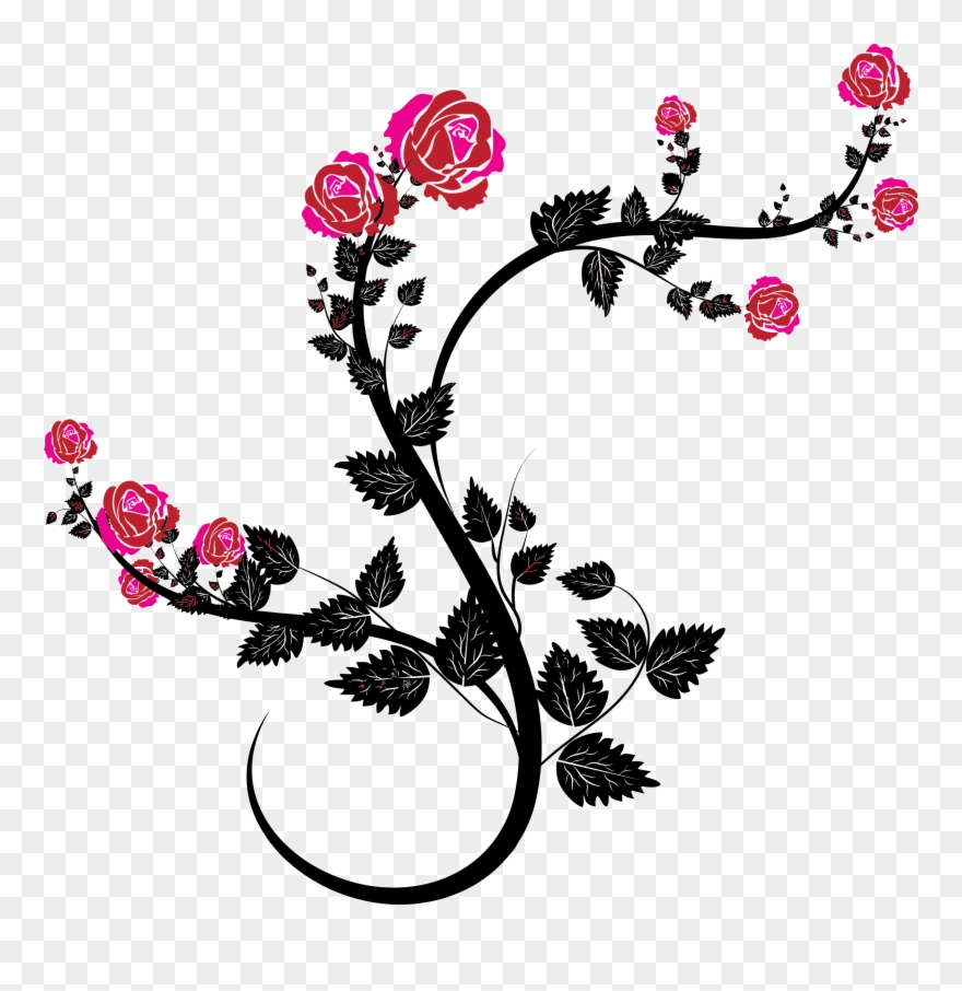 Floral vine clipart graphic black and white download Clipart - Floral Vines Clip Art - Png Download (#63311) - PinClipart graphic black and white download