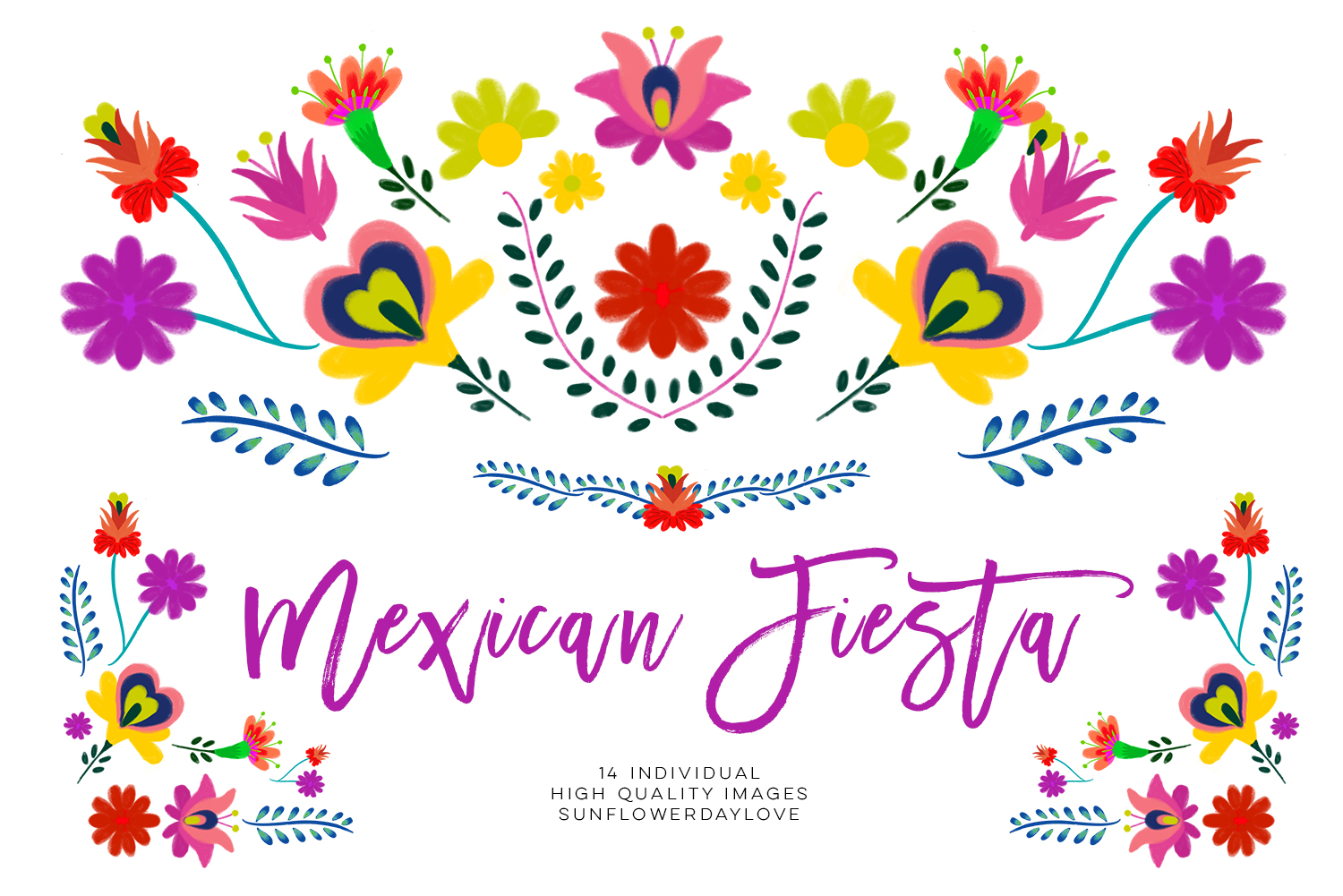Floran clipart picture transparent stock Fiesta clipart, Mexican Watercolor Floral clipart, PNG mexican party clip  art, mexican flowers watercolor floral clip art, cinco de mayo - Vsual picture transparent stock
