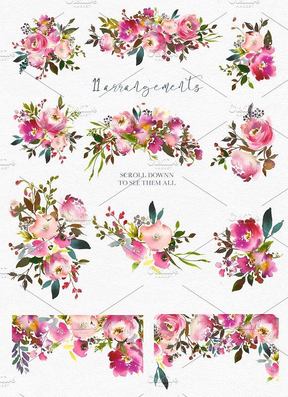 Floran clipart. Fresh scent pretty floral