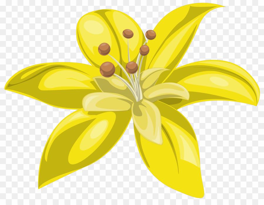 Flores amarelas clipart clip transparent Flores Amarelas PNG Flower Lily Clipart download - 6174 * 4703 ... clip transparent