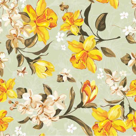 Flores amarelas clipart png freeuse Clipart e gráficos vetoriais de Padrão de flores amarelas gratuitos ... png freeuse