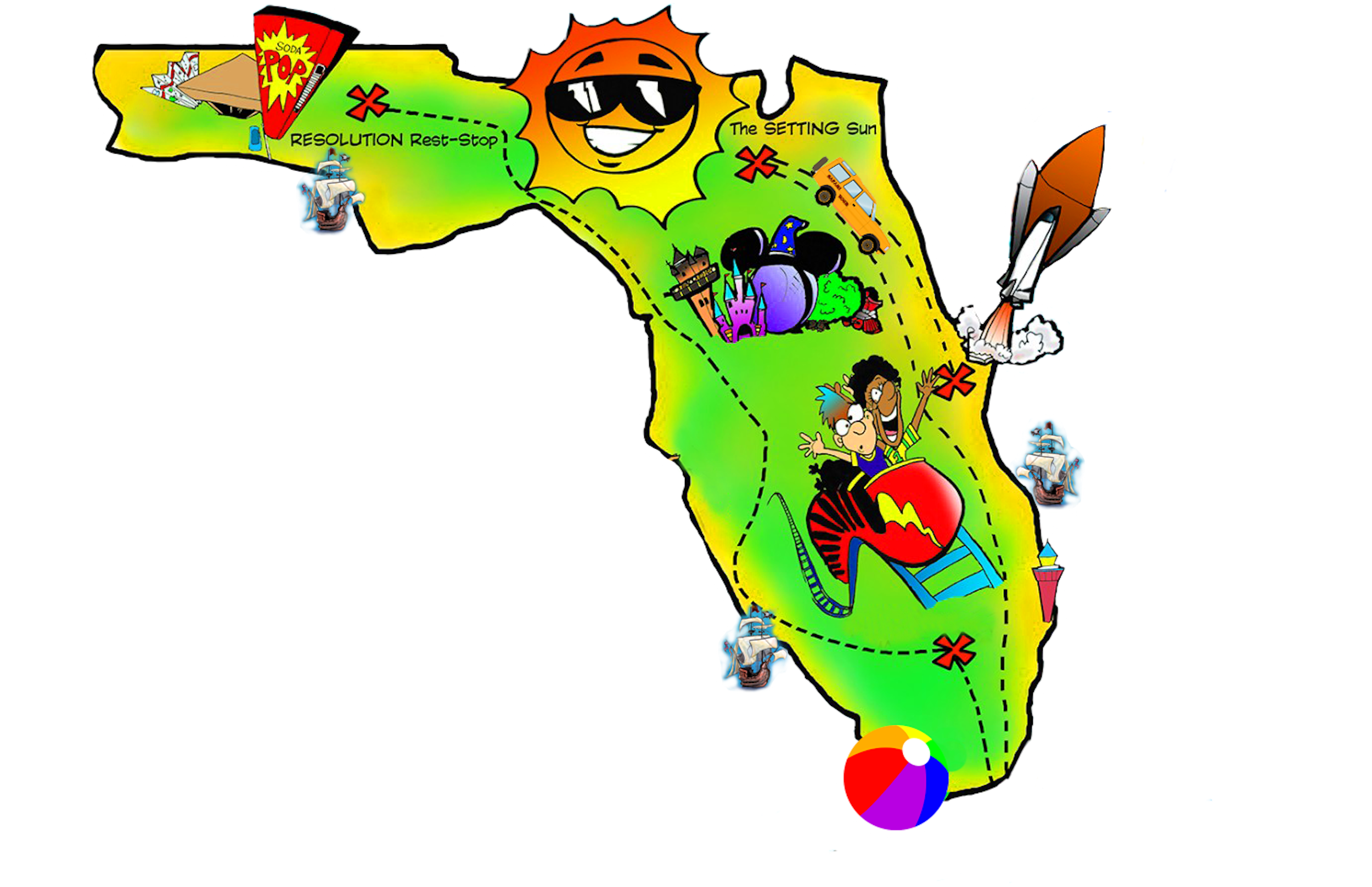 Florida christmas clipart free library Florida Map ClipArt {free} by PrepToon | FREE: TeachersPayTeachers ... free library