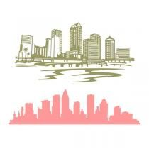 Florida city clipart clip free download Tampa City Florida FL Skyline SVG Cuttable Design   T-shirts ... clip free download