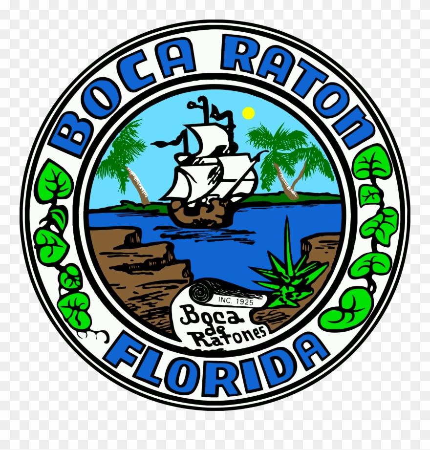 Florida city clipart clip royalty free download Seal Of Boca Raton, Florida - City Of Boca Raton Logo Clipart ... clip royalty free download