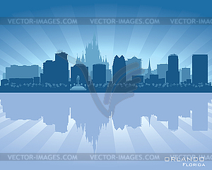 Florida city clipart royalty free Orlando, Florida skyline city silhouette - vector clipart royalty free