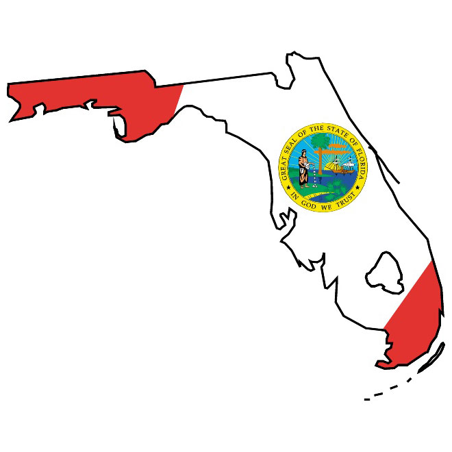 Florida flag clipart clip art Florida flag and vector map - Free vector image in AI and EPS format. clip art