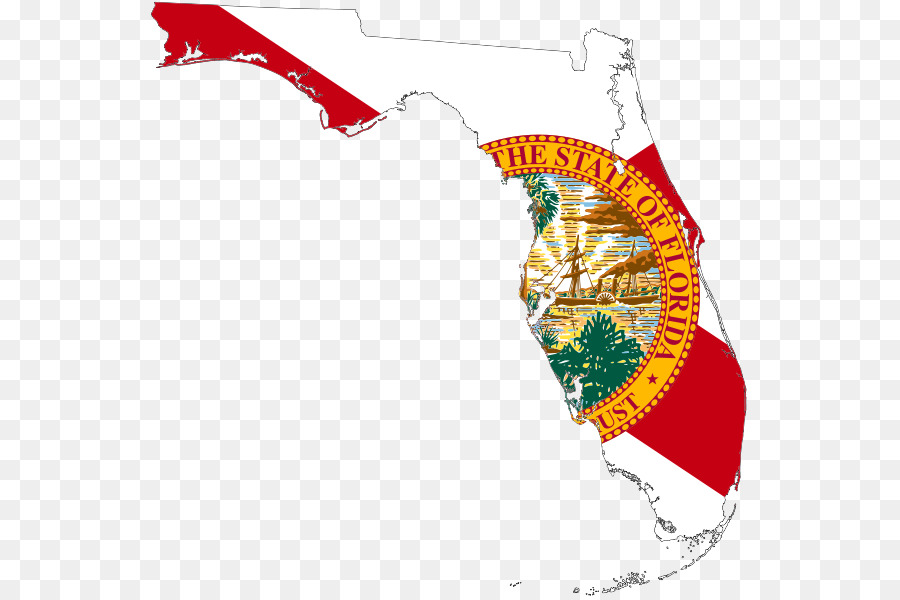 Florida flag clipart. Background text line transparent