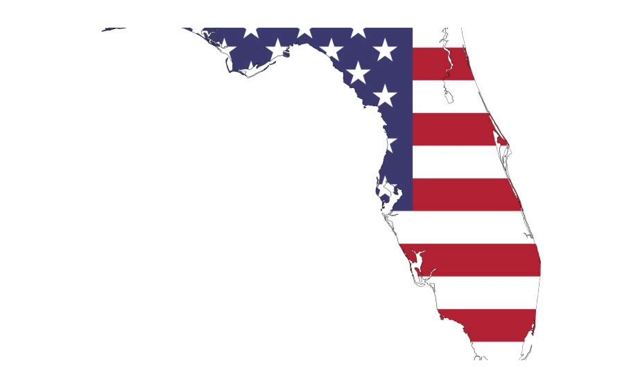 Florida flag clipart picture black and white HD Map Of The Usa Flag Clipart Png - Florida Map Png Transparent PNG ... picture black and white