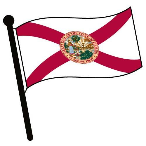 Florida flag clipart vector transparent stock Florida Waving Flag Clip Art | Clipart Panda - Free Clipart Images vector transparent stock