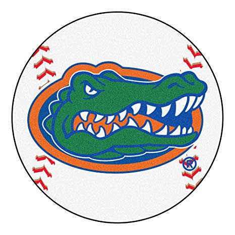 Florida gators baseball clipart banner black and white library Amazon.com : University of Florida Gators Baseball Area Rug : Sports ... banner black and white library
