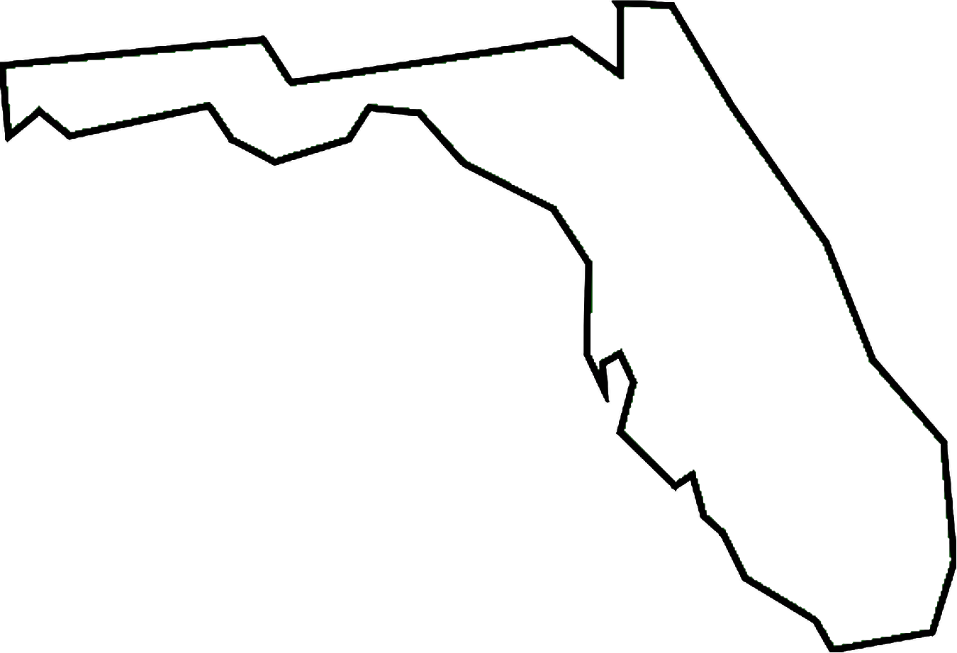 Florida state map clipart vector black and white stock Outline Map Of Florida State With Florida Map Clipart ~ Free ... vector black and white stock