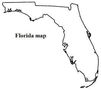 Florida state map clipart clip art royalty free Florida state flag clipart - ClipartFest clip art royalty free