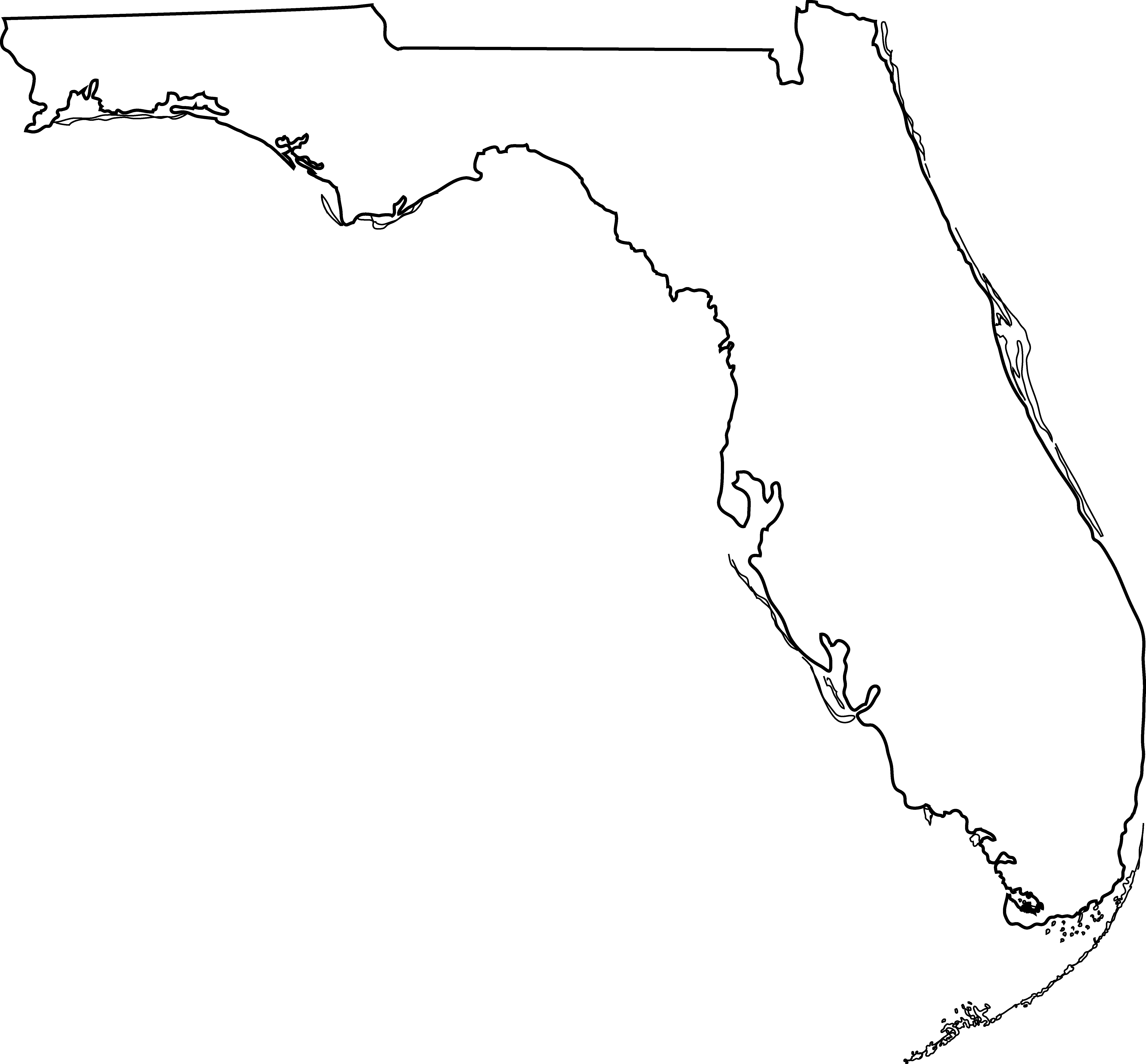 Florida state map clipart clipart royalty free Usa map state of florida clipart - ClipartFest clipart royalty free