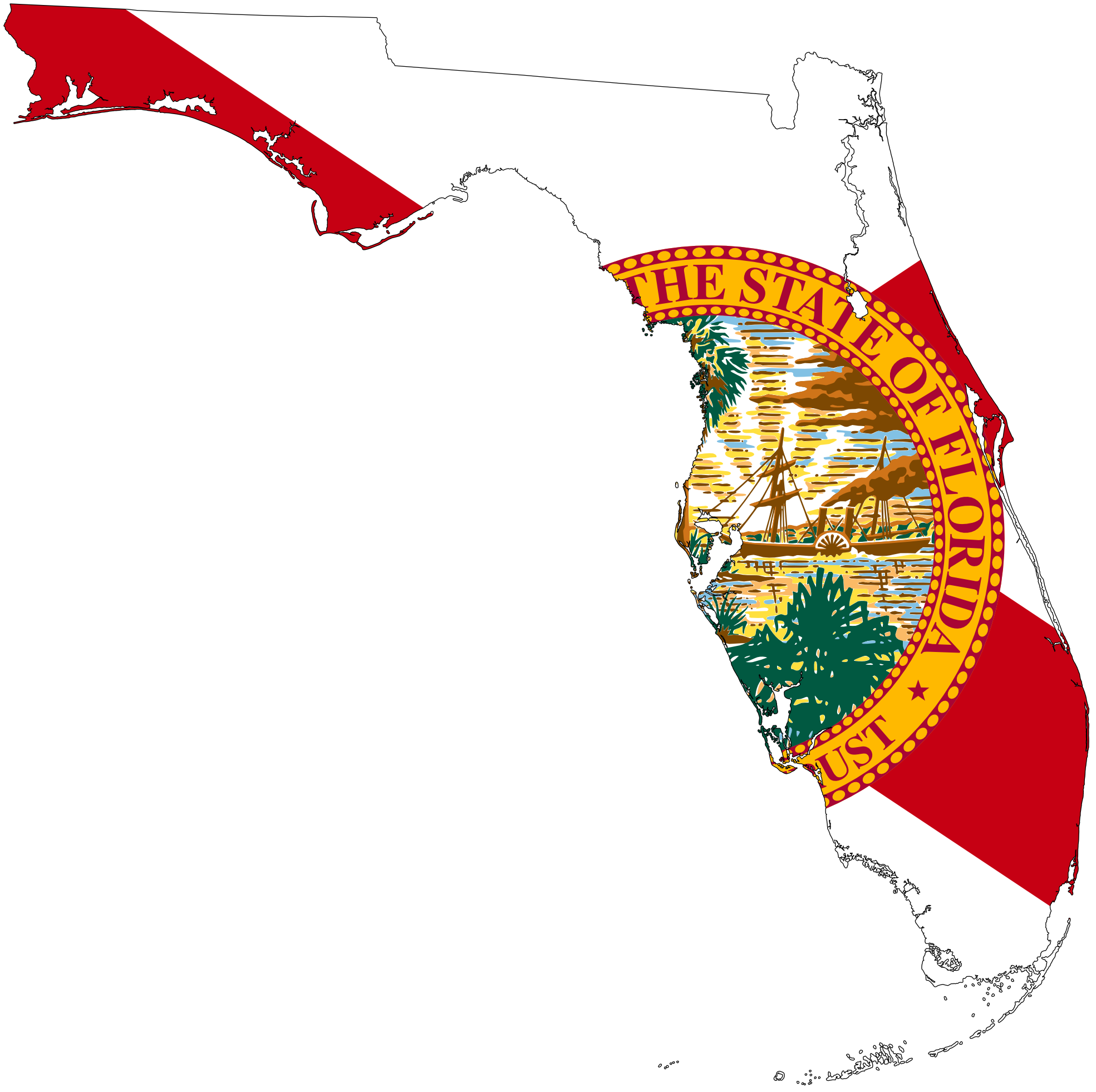 Florida state map clipart jpg free Florida clipart - ClipartFest jpg free