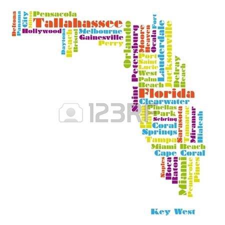 Florida state map clipart jpg free 1,544 Florida State Map Stock Illustrations, Cliparts And Royalty ... jpg free