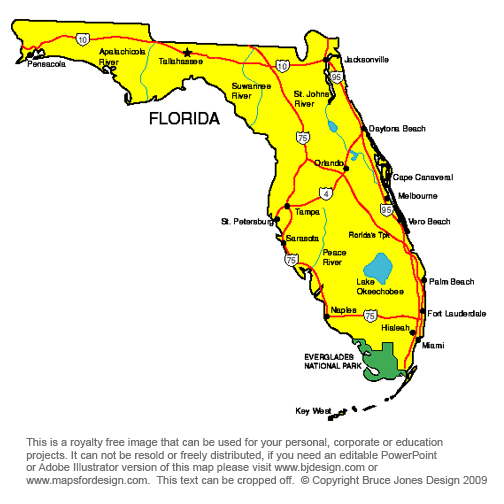 Florida state map clipart image royalty free library Florida state map clipart - ClipartFest image royalty free library
