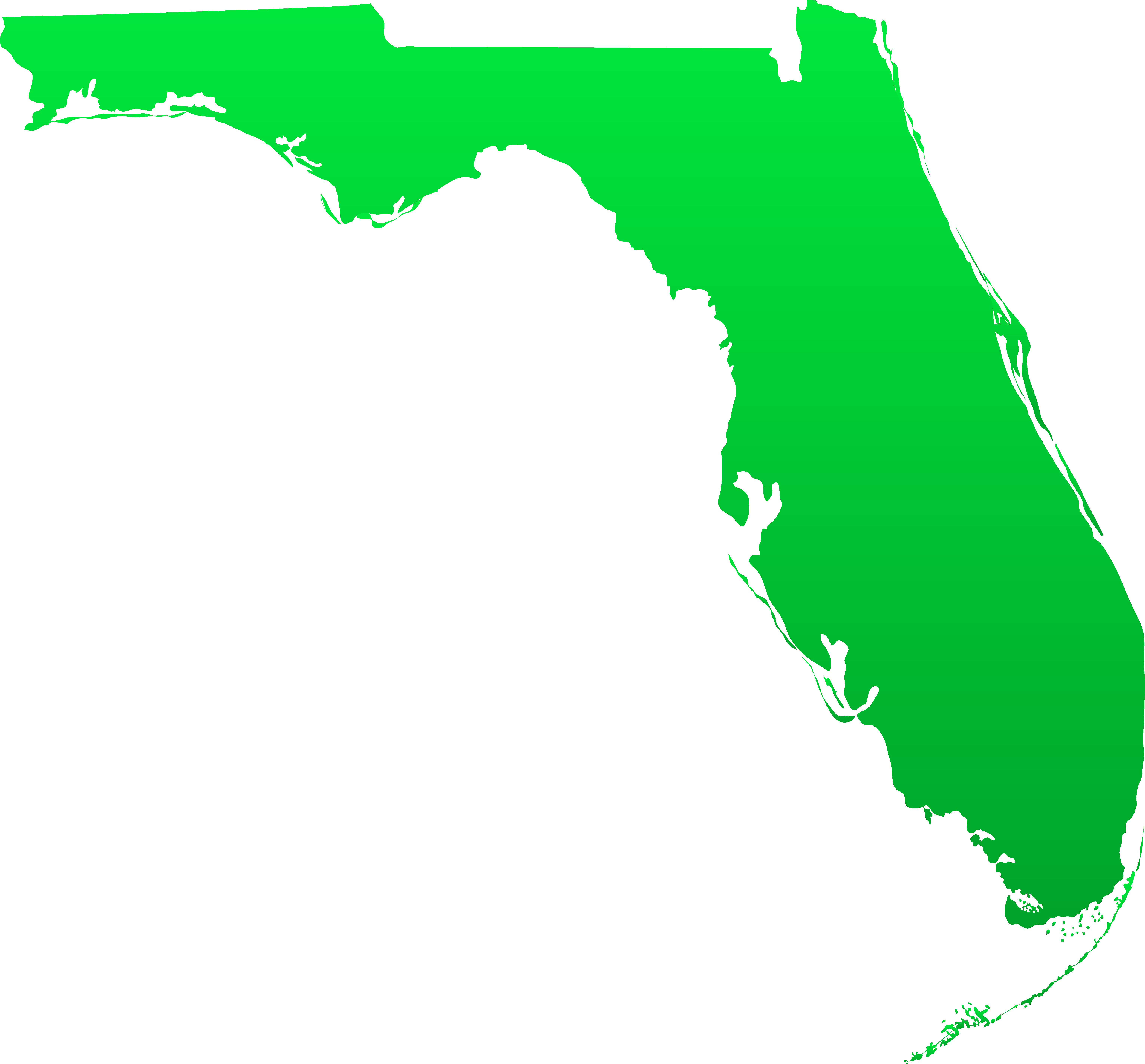 Florida state map clipart picture library Florida state clipart - ClipartFest picture library