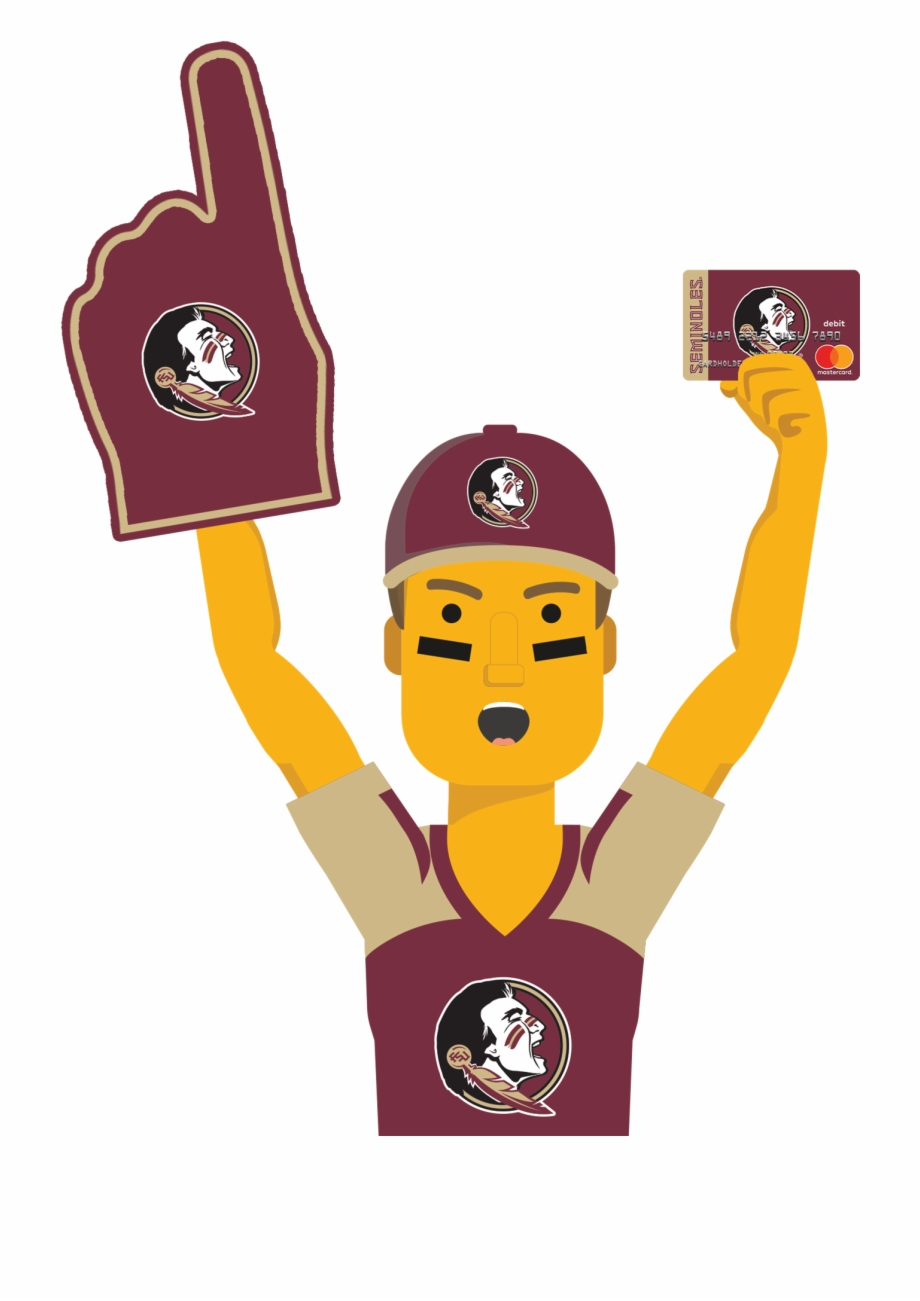 Florida state seminoles cartoon clipart png library stock Florida State Ultimate Fan Holding The Florida State - Cartoon ... png library stock