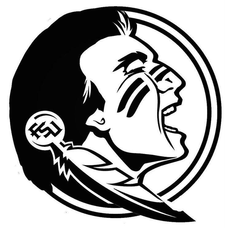 Florida state seminoles cartoon clipart black and white stock Download florida state logo black and white clipart Florida State ... black and white stock