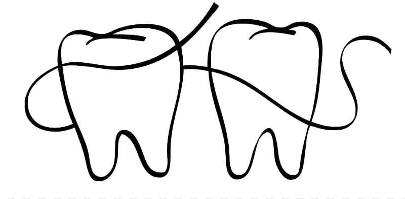 Floss clipart in teeth black and white vector royalty free download Dental Floss Dentistry Coloring book , Dental Floss transparent ... vector royalty free download